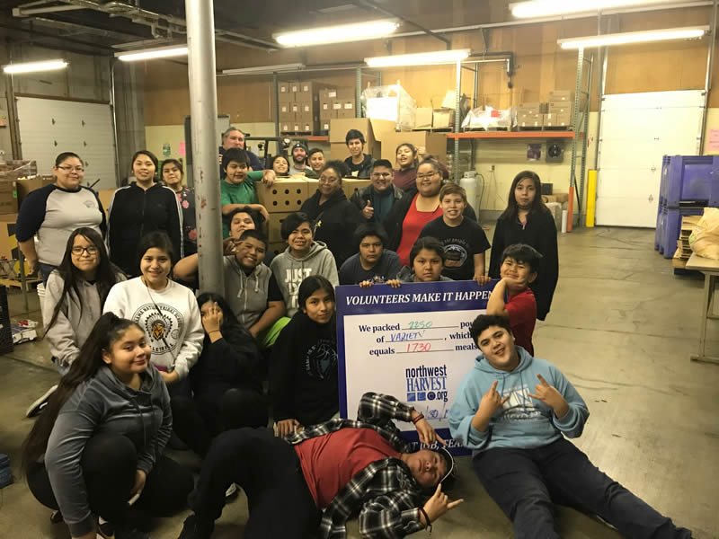 youth working with northwest harvest organization